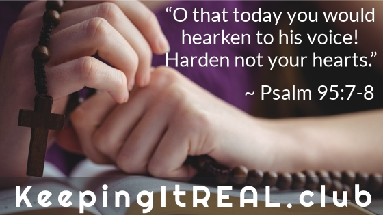 O that today you would hearken to his voice! Harden not your hearts.