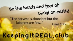 Be the hands and feet of Christ on earth.