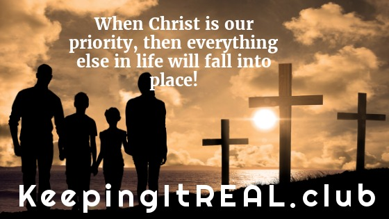 When Christ is our priority, then everything else in life will fall into place!