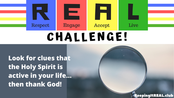 Look for clues that the Holy Spirit is active in your life... then thank God!