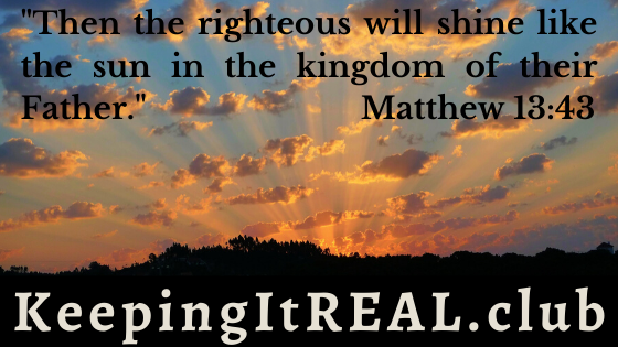 """""""Then the righteous will shine like the sun in the kingdom of their Father."""" Matthew 13:43"""