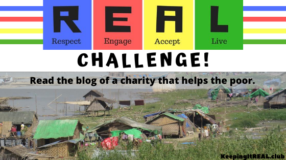 Read the blog of a charity that helps the poor.