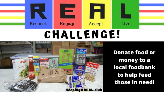Donate food or money to a local foodbank to help feed those in need!