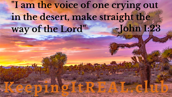 """""""I am the voice of one crying out in the desert, 'make straight the way of the Lord!'"""" John 1:23"""