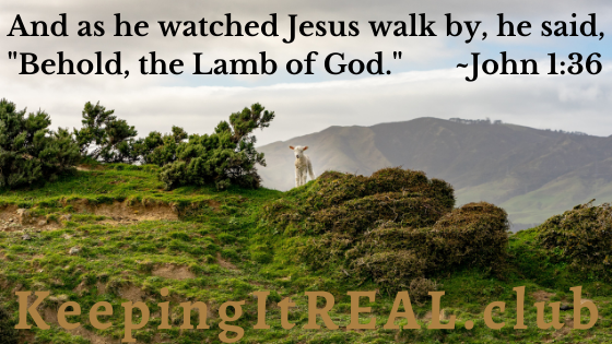 """And as he watched Jesus walk by, he said, """"Behold, the Lamb of God."""" John 1:36"""